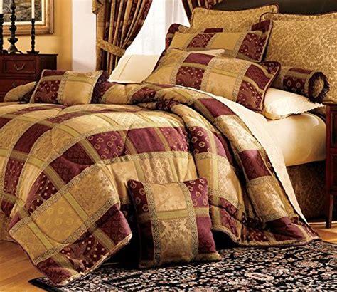 7 piece maroon jewel patchwork cal king comforter set a
