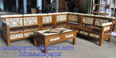 Kursi Sudut Kayu Jepara kursi tamu sudut kayu jati terbaru perabot jepara