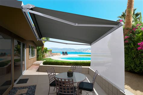 yard awnings the luxaflex ventura awning is an affordable folding arm awning system without hood as