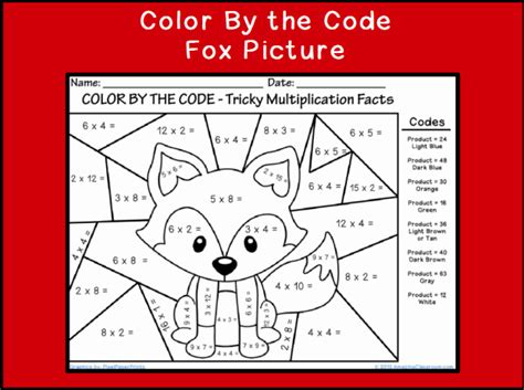 Coloring Pages: Color By Number Multiplication   New