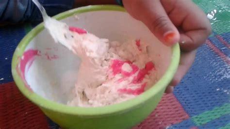 membuat slime dari tepung terigu cara membuat slime tepung mudah youtube