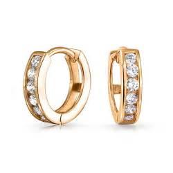 hoop huggie gold vermeil small cz huggie sterling silver hoop earrings