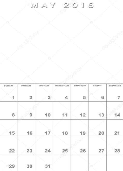 Modèle de calendrier mai 2016 — Photographie paulvinten