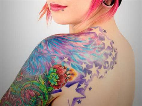 female upper arm tattoo designs for arms colorful arm ideas shoulder
