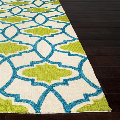 Jaipur Barcelona Indoor Outdoor Rug Jaipur Rugs Barcelona Moresque 5 X 7 6 Indoor Outdoor Rug Blue Green Shopperschoice