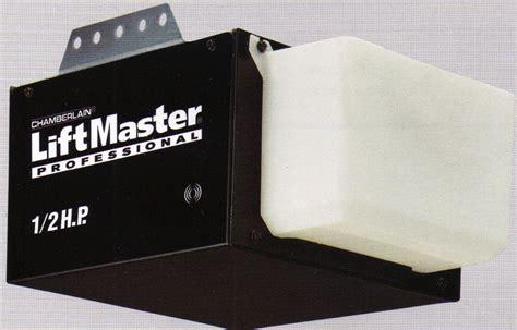 lift master garage door opener 1355 56 half hp liftmaster chain drive garage door opener a plus garage doors