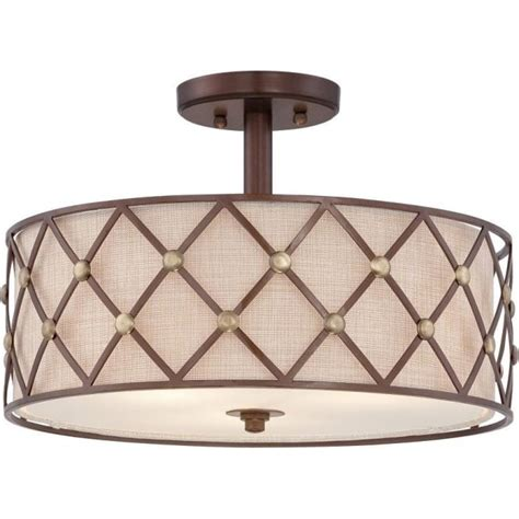 Lights For Low Ceilings Uk by Brown Lattice Semi Flush Fitting Low Ceiling Light Light