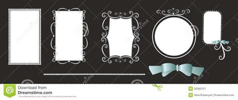 mengubah format eps ke cdr a set of original frames white on black cdr stock vector