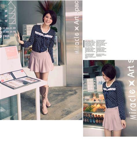 Ba30270 Cotton Blousebaju Import Chinablouse Kerja Wanita baju wanita import lengan panjang polkadot model terbaru jual murah import kerja