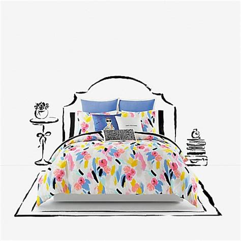 Kate Spade Tanden Bed kate spade new york paintball floral comforter set bed bath beyond