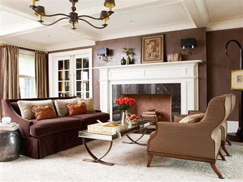 best color for living room with brown furniture