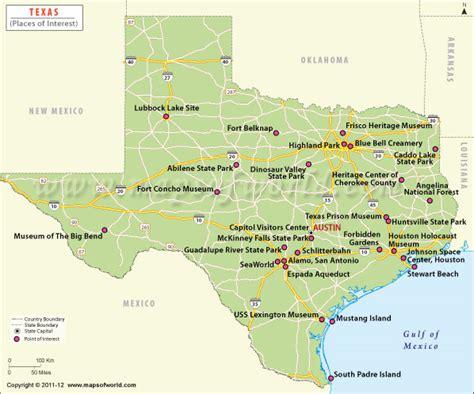 texas tourism map texas tourist attractions map my