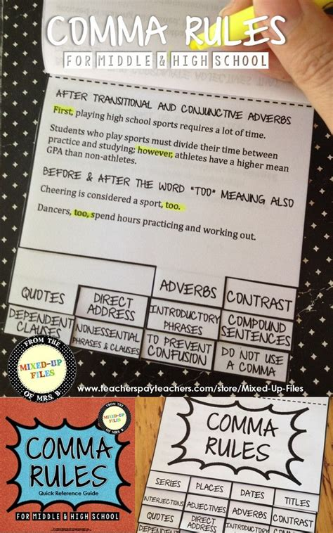using commas to separate groups the curriculum corner 123