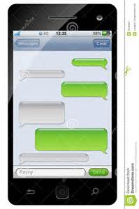 Chat Template by Smartphone Sms Chat Template Royalty Free Stock