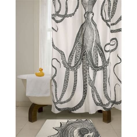 octopus shower curtain bath octopus shower curtain in charcoal