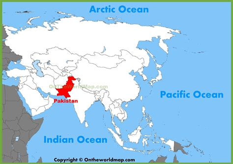 where is pakistan on the map pakistan location on the asia map