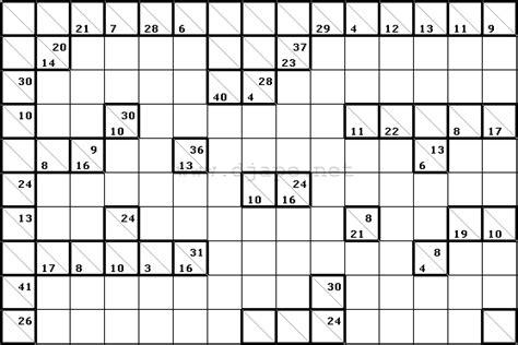 free printable sudoku kakuro kakuro cross sums puzzle