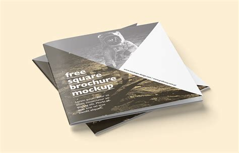 mockup design for brochure free square brochure mockup on behance