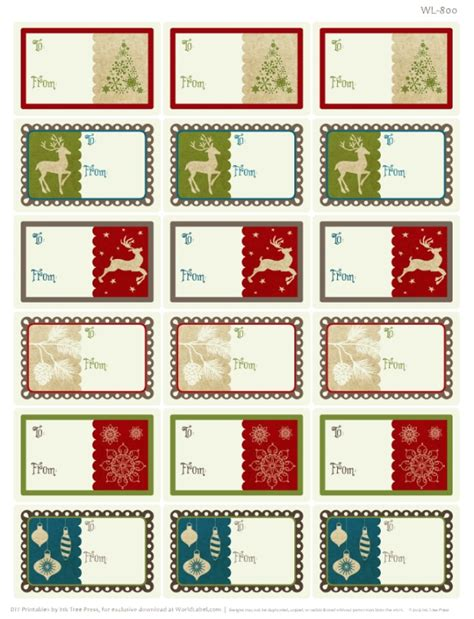 Weihnachts Etiketten Drucken Gratis by A Rustic Printable Label Set Worldlabel