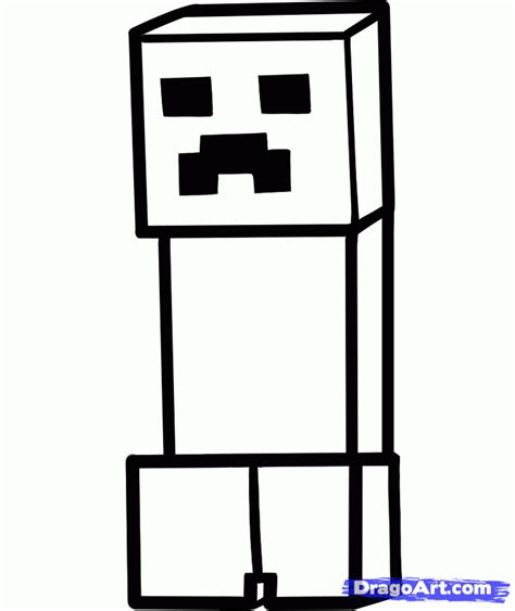 minecraft creeper coloring pagesdraw a minecraft creeper