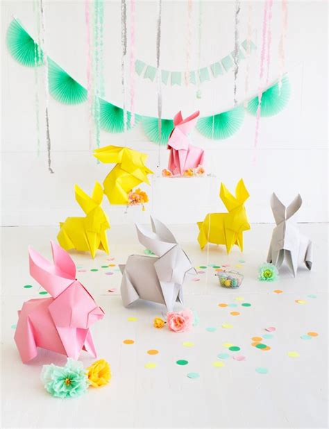 diy origami bunnies oh happy day easter