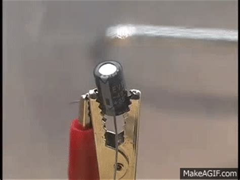 capacitor explosion from excessive voltage capacitor explosion from excessive voltage on make a gif