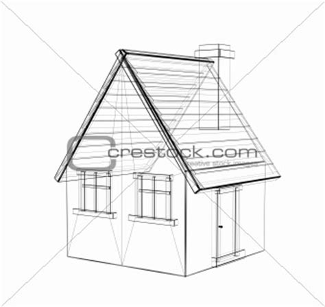 3d house drawing simple house outline 3d www pixshark com images