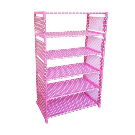 Allunique Rak Sepatu 6 Susun Motif jual home klik motif onde rak sepatu pink 6 susun harga kualitas terjamin