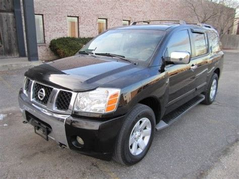 how cars run 2005 nissan armada navigation system sell used 2005 nissan armada le leather dvd sunroof power everything clean carfax in pollock