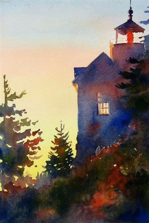 10 best ideas about watercolor landscape on watercolor trees landscape sketch and