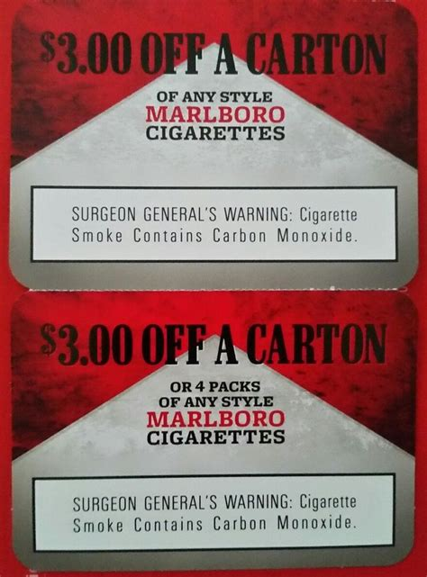Free Pack Of Cigarettes Printable Coupon