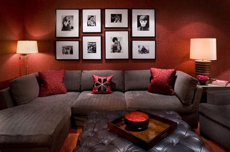 red home decor ideas bold idea red black and brown living room ideas home