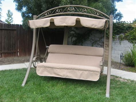 swing seat canopy fabric swingcushioncovers com replacement canopy and cushion in