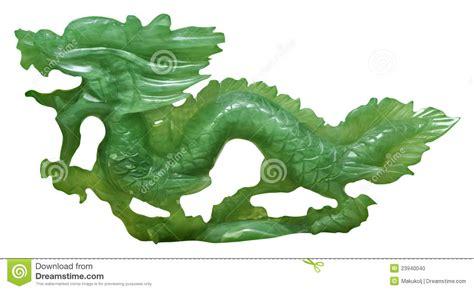 Green Table Settings - jade dragon ornament stock photo image 23940040