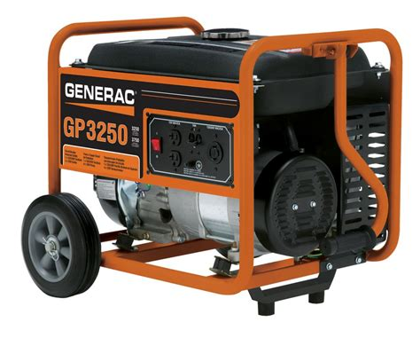 generac gp 3250 watt portable generator the home depot