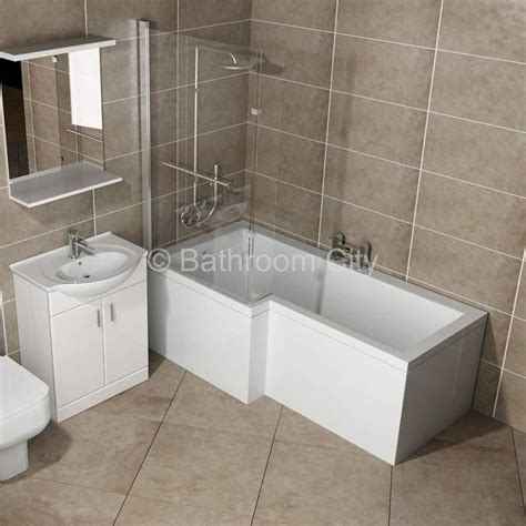 l shaped whirlpool shower bath left handed buy at