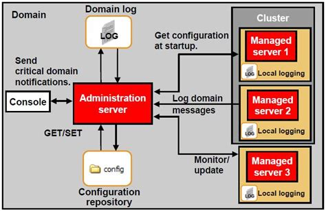 domain administration managed server cluster