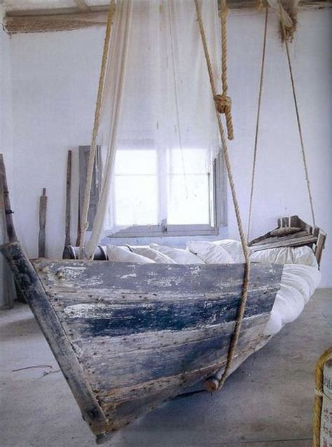 diy hanging bed canoe hanging beds