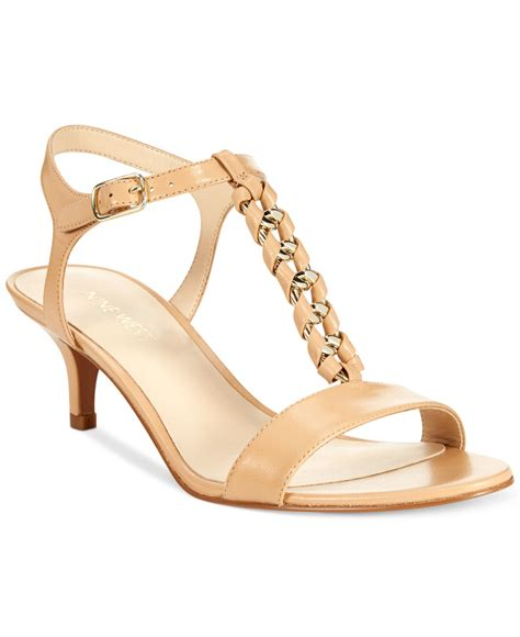 beige sandals low heel nine west yocelin low heel dress sandals in beige