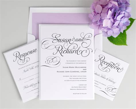 Purple Wedding Invitations by Script Wedding Invitations In Purple Wedding Invitations