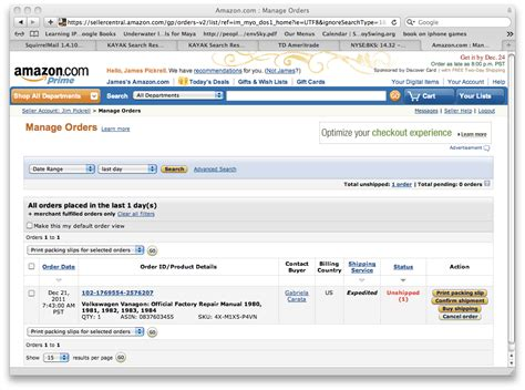 amazon your orders amazon book sold time to ship