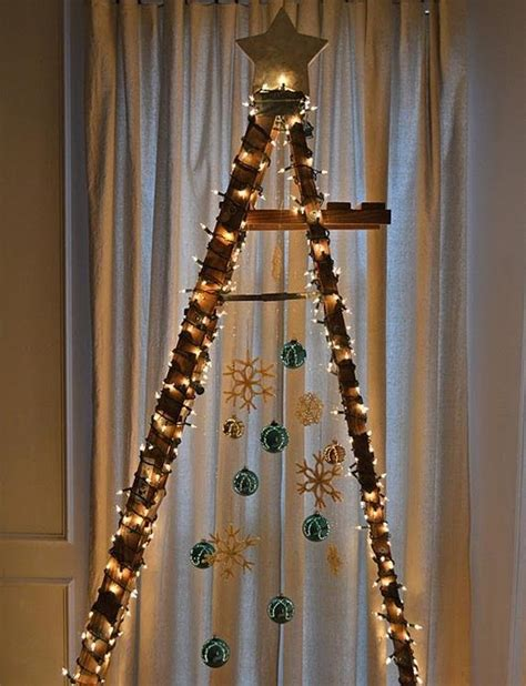 how to make a ladder christmas tree don t like traditional trees try out one of these 7 festive diy alternatives
