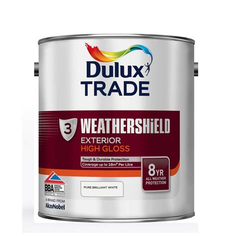 high gloss paint dulux trade weathershield exterior high gloss paint