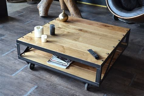 Table Basse Palette Industrielle by Table Basse Industrielle Style Industriel Micheli Design