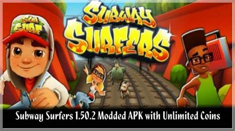 subway surfers apk unlimited coins subway surfers 1 50 2 modded apk with unlimited coins and