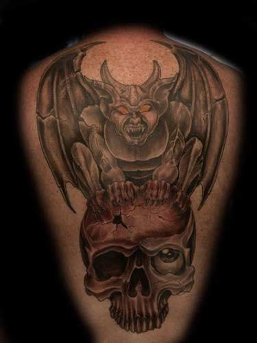 tattoos gargoyle designs gargoyle on back
