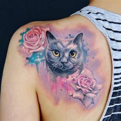 cat rose tattoo 359 best cat images on