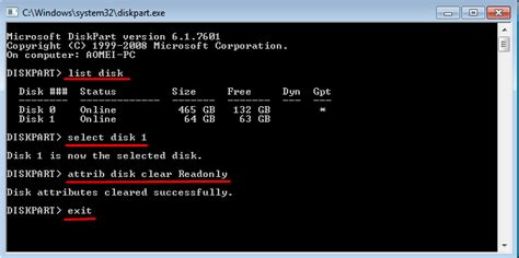 format diskpart exfat how to remove write protection from exfat sd card in windows