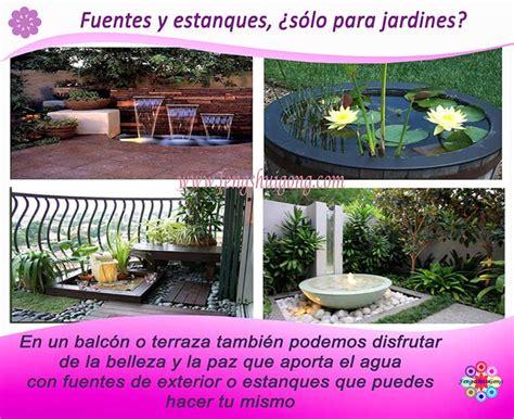 decoracion de jardines pequeños con estanques fuentes para terrazas pequeas prgola de palets fuentes