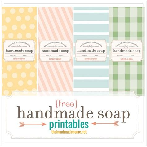 Make Your Own Soap Our Fave Recipes Free Printables The Handmade Home Soap Label Templates